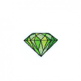 Iron on diamond - green