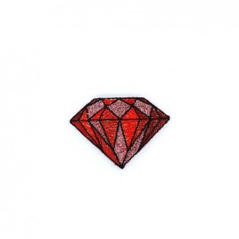 Iron on diamond - red