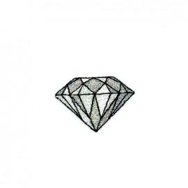 Iron on diamond - silver