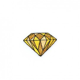 Iron on diamond - yellow