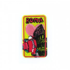 Love Town Iron on badge - Roma