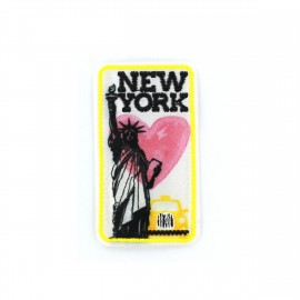 Love Town Iron on badge - New York