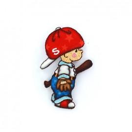 Child Iron on  - base ball player