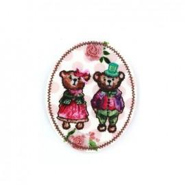 Nostalgia badge Iron on - teddy bear