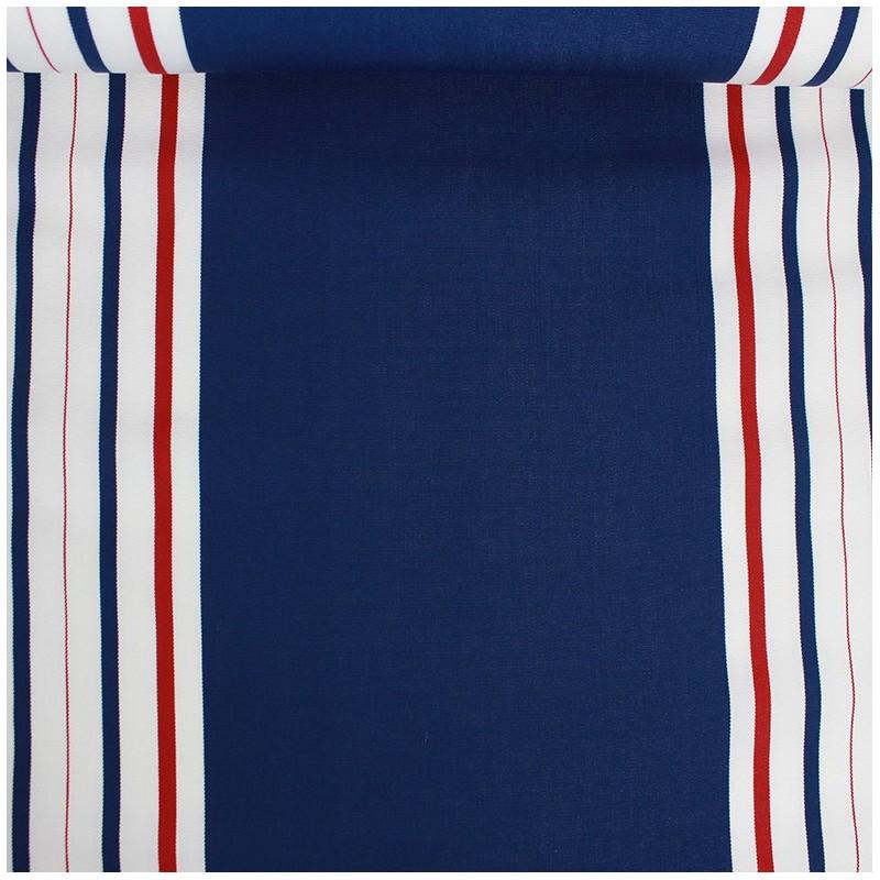 tissu toile transat playa levant 43cm bleu x 10cm ma. Black Bedroom Furniture Sets. Home Design Ideas