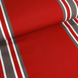 Deckchair canvas fabric Levant (43cm) - red x 10cm