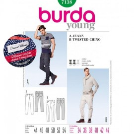 Denims /Twisted Chino Sewing Pattern Burda n°7138