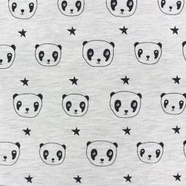 Tissu sweat léger  jo Panda - écru x 10cm