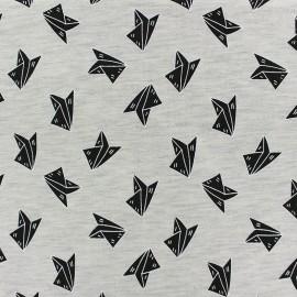 Fabric Jogging Paper Plane - ecru x 10cm