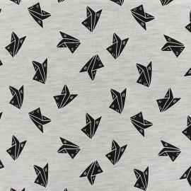 Tissu Jogging Paper Plane - écru x 10cm