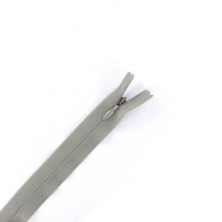 Fermeture  Eclair® invisible non séparable - gris clair