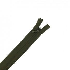 Concealed 4 mm zip - dark khaki