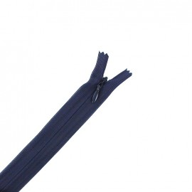 Concealed 4 mm zip - navy blue