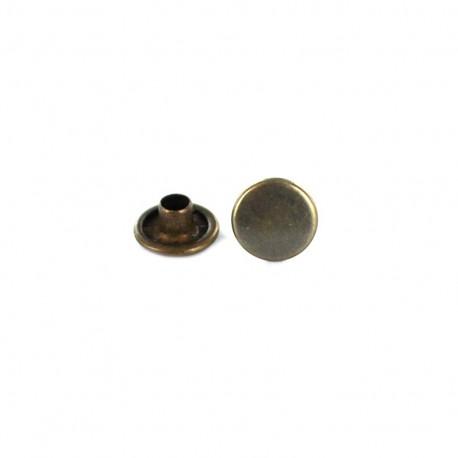 Bronze double cap rivet - 9,2 mm