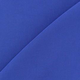 Tissu viscose chemisier bleu cobalt x 10cm