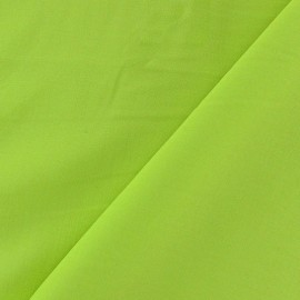 Tissu viscose chemisier lime x 10cm