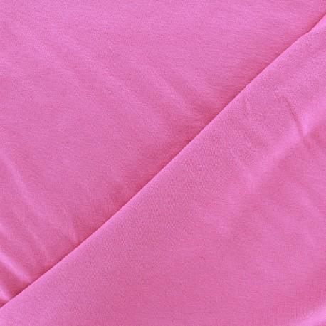 Tissu jersey léger uni fuchsia clair x 10cm