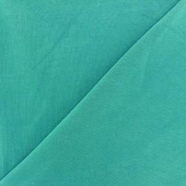 Tissu jersey léger uni Mer du sud x 10cm