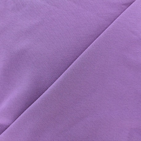Tissu jersey uni mauve x 10cm