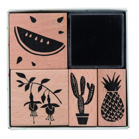 Stamp set Tropical Spring Melon (X4)