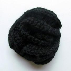 Hooked Flower brooch - black