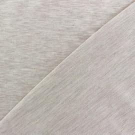 Tissu sweat léger Uni - beige clair chiné x 10cm