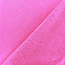 Tissu sweat léger Uni - rose vif x 10cm