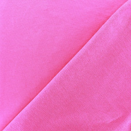 Tissu jogging jersey léger rose vif x 10cm