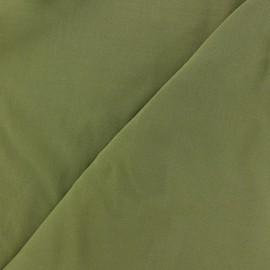 Tissu viscose chemisier vert kaki x 10cm