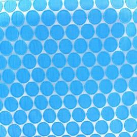 Tissu jacquard stretch Circle - bleu x 10cm
