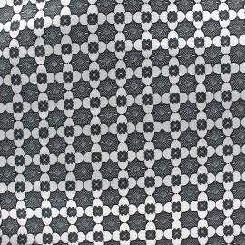 Tissu jacquard stretch Alhambra - noir x 10cm