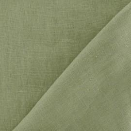 Tissu Lin vert de gris  x 10cm