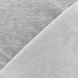Tissu sweat gris clair x 10cm