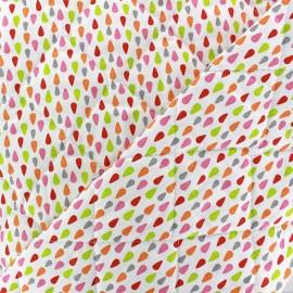 Tissu matelassé Plumi rose/anis x 10cm