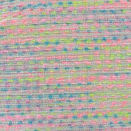 Tissu Tweed Candy - ecru x 10cm