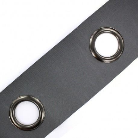 Bande à oeillets auto-agrippante Rivetstrip® - gris x 18cm