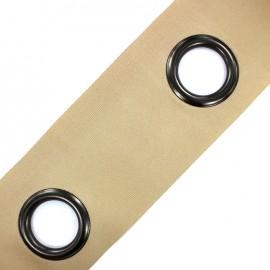 Self-fastening eyelet tape Riverstrip® - linen grey x 18cm