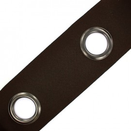 Self-fastening eyelet tape Riverstrip® - brown x 18cm