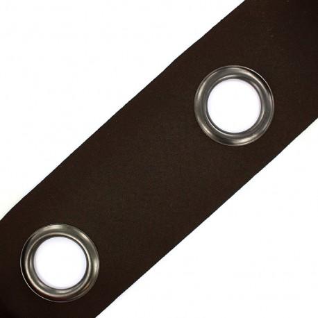 Bande à oeillets auto-agrippante Rivetstrip® - marron x 18cm