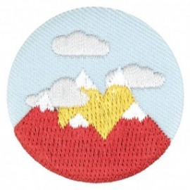 Fabric badge - embroidered mountain