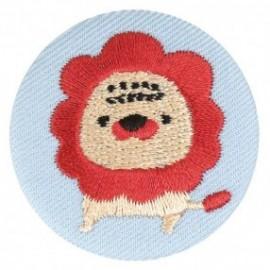 Badge tissu - Lion brodé