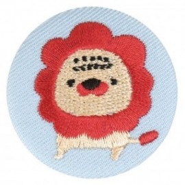 Badge tissu - Lion brodé