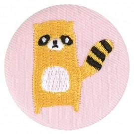 Badge tissu - Raton laveur brodé