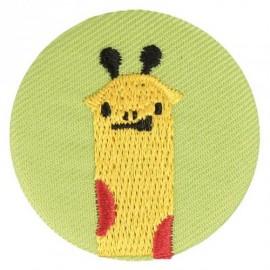 Fabric badge - embroidered giraffe