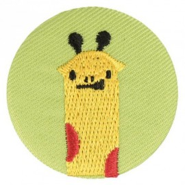 Fabric badge - embroidered giraffe