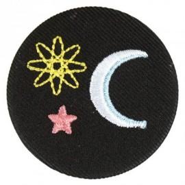 Badge tissu - Ciel brodé