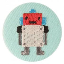 Badge tissu - Robot brodé