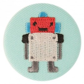 Fabric badge - embroidered robot