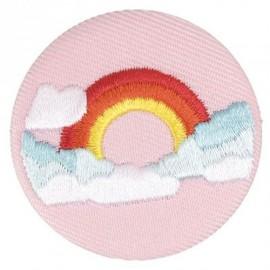 Badge tissu - Arc-en-ciel brodé