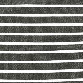 Light striped viscose jogging Fabric - white/grey x 10cm